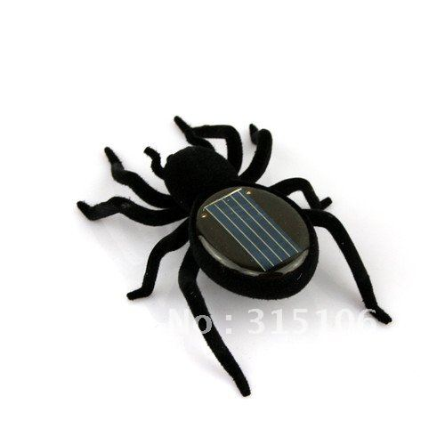 Free Shipping Educational Solar powered Spider Robot Amazing Toy Gadget Gift for Children Kid(China (Mainland))