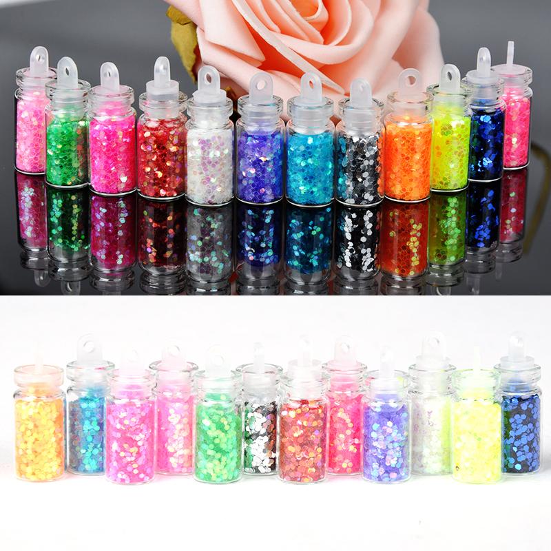 Wholesale Mini Bottle Glitter Nail Art Powder Dust Tip Rhinestone ...