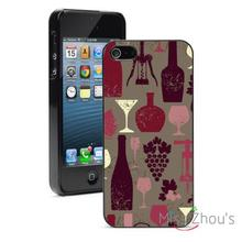 Vintage Wine Background Protector back skins mobile cellphone cases for iphone 4/4s 5/5s 5c SE 6/6s plus ipod touch 4/5/6