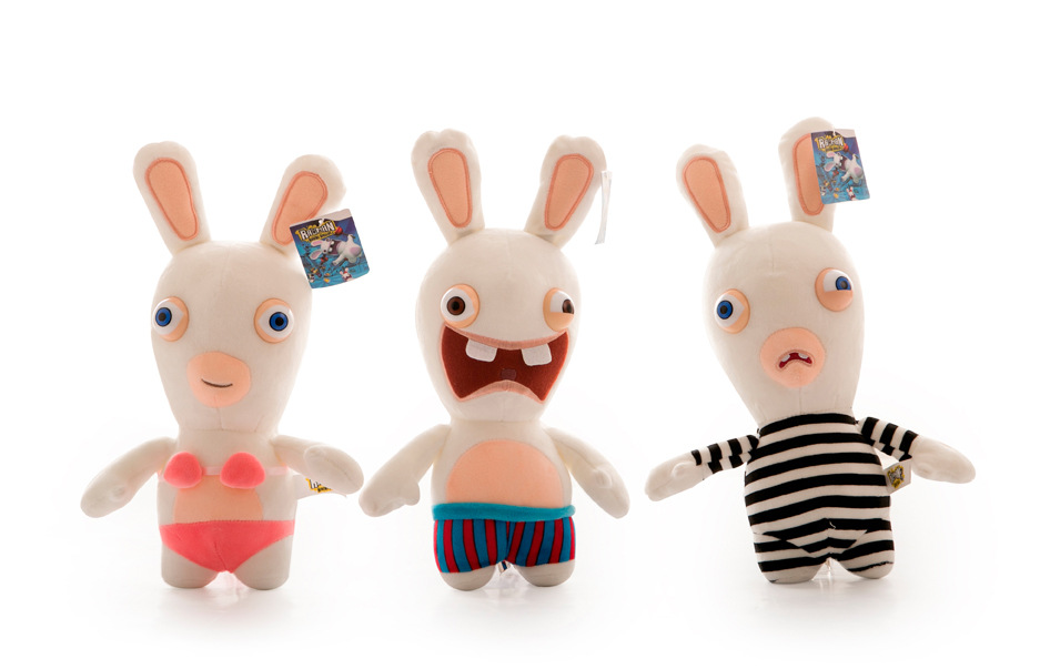 5 Colors 25cm Rayman Raving Rabbids Kids Babys Plush Toys Wedding Decorations Doll Valentines Day Gifts For Girls#ML0183(China (Mainland))