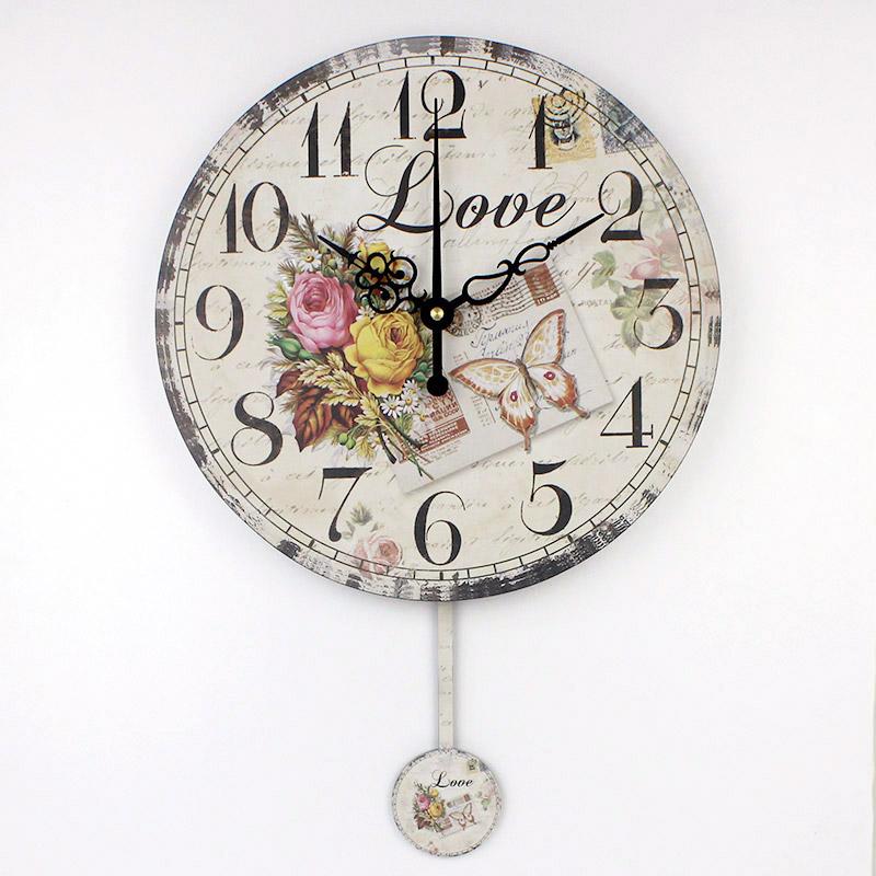 Compra grandes relojes de pared decorativos online al por - Relojes grandes de pared vintage ...