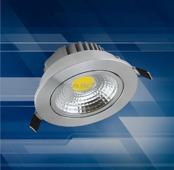 Free Shipping Super 10W LED COB Recessed Light Cool White/Warm White LED Down Light CE(China (Mainland))