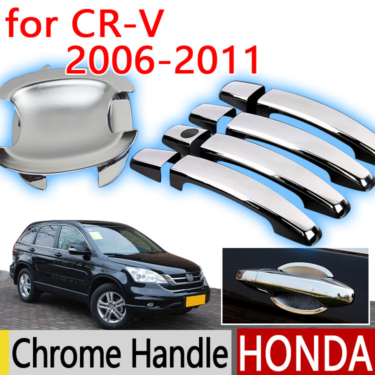 Hot Sale For Honda CRV CR-V 2007 - 2011 Accessories Chrome Door Handle 2007 2008 2009 2010 Car Covers Stickers Car Styling(China (Mainland))