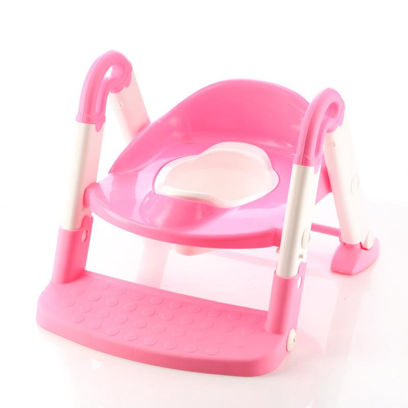 grand si ge de toilette pour enfants b b toilettes pot anneau chelle pliante dans pots de. Black Bedroom Furniture Sets. Home Design Ideas