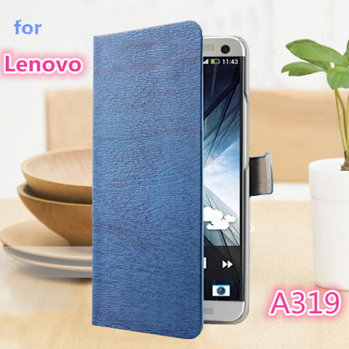 Luxury Vintage Stand Wallet PU Leather Case For Lenovo A319 Phone Bag with Card Holder Retro Deluxe Case for Lenovo A 319(China (Mainland))