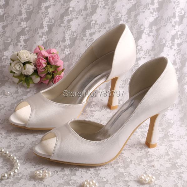 Wedopus Pink Wedding Shoes Women High Heeled without Decoration Custom Handmade