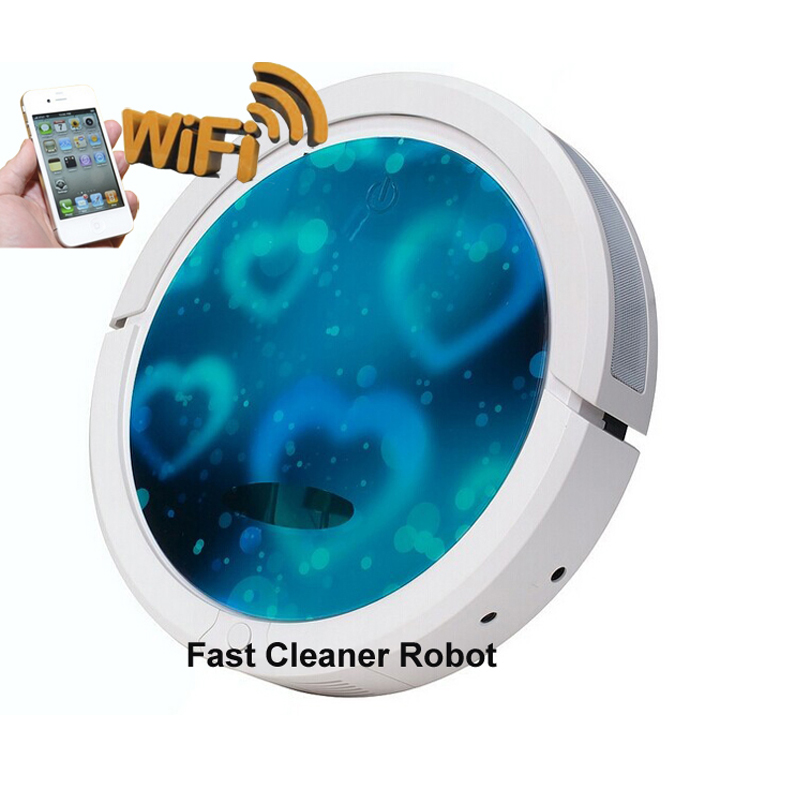 Small Fresh Blue Color Smartphone WIFI APP Control Robot Vacuum Cleaners for Wet and Dry Cleaning 6 Colors 150ml Big Water Tank(China (Mainland))