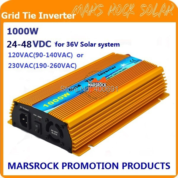PROMOTION!!1000W Grid tie inverter, DC20V~45V, AC90V-140V or 190V-260VAC for 24V and 36V Solar Power and Wind Power System!(China (Mainland))