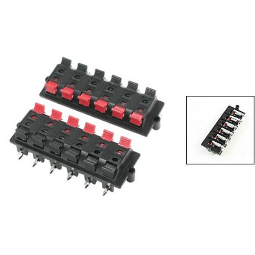 Здесь можно купить  10 Pcs Wholesale Plastic Casing 2 Pin 12 Position Speaker Terminal Board Red Black 5 Pcs  Электротехническое оборудование и материалы