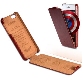 Для iPhone 5S чехол ретро роскошь Crazy Horse скины PU кожаный чехол для iPhone 4 4S 5 5S 5 г полный вертикальной раскладной телефон обложка браун