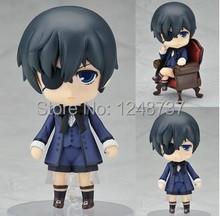 Cute 4″ Nendoroid Black Butler Kuroshitsuji Ciel PVC Action Figure, toys for kids,Model Collection Toy, children dolls