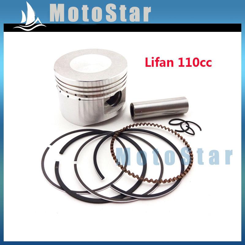 52mm 13mm Piston Pin Ring Set Kit For Chinese Lifan 110cc Engine 4 Wheeler Motorcycle Pit Dirt Trail Motor Bike ATV Quad(China (Mainland))