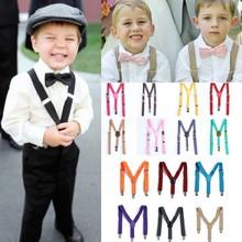 NEW Boys Girls Kids Child Children Clip on Y Back Elastic Suspenders Braces Belt Kids hot sell(China (Mainland))