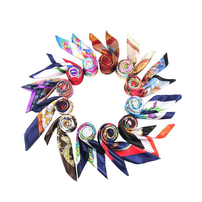 Novel designs Explosion Models Silk Square Scarf Fashion Four Seasons Shawl Silk Satin Scarves(China (Mainland))
