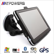 "Universal 7"" screen HD Car GPS Navigation 800Mhz CPU 256MB RAM 8GB Flash SAT NAV + Bluetooth + AV-IN + FMT + MP3 4 Free Maps(China (Mainland))"