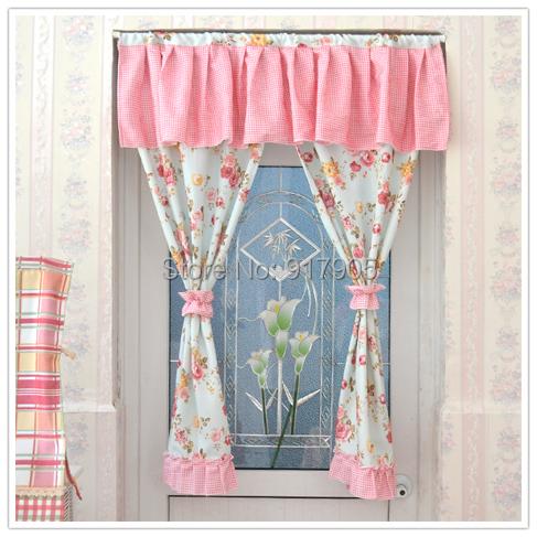 Nice ... Sheer Floral Curtains : Romantic Pink Rose Print Curtains Designer  Rustic Vintage ...