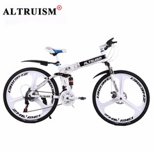 Buy Altruism X9 Pro White 21 Speed 24 inch Mountain Bike Steel Folding Bicycles Brand Bikes Magnesium alloy Wheels Bikes Frame for $247.84 in AliExpress store