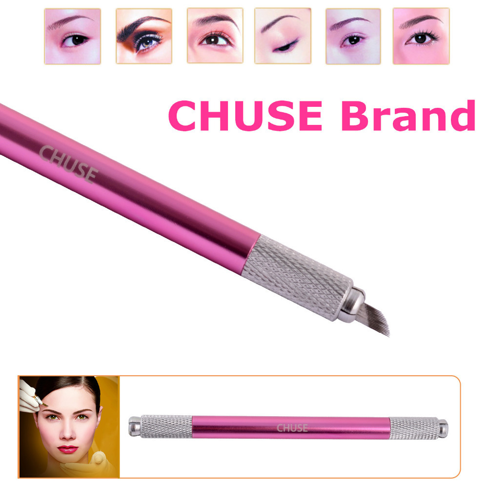 1 Famous Brand Chuse M6 Professional Permanent Makeup Manual Eyebrow Tattoo Pen Head Can Used - Value in Fashion store