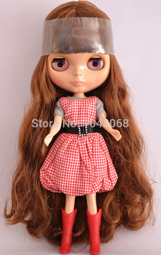 Free shipping nude 1/6 Blyth doll cute girl doll fashion gift DIY toys(tan skin doll )(China (Mainland))