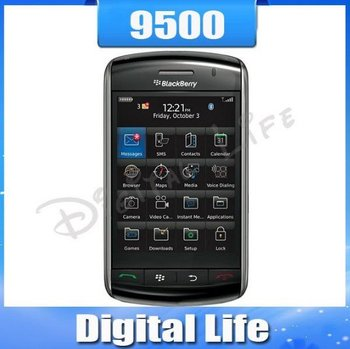 3pcs/lot Original Unlocked BlackBerry Storm 9500 Cell Phone 3G GPS Free