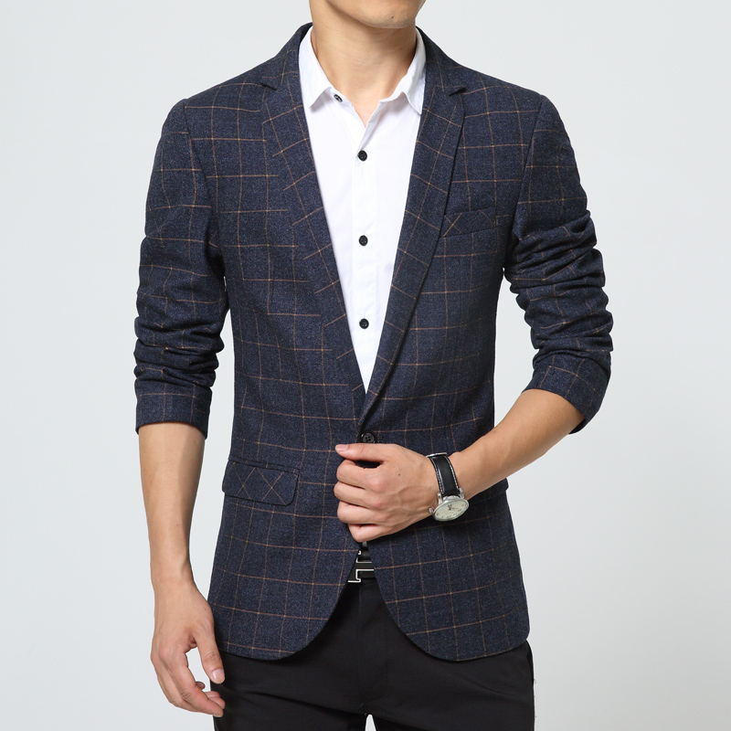 New Style Striped Men Blazer 2015 Suit Men Brand Casual Jacket Latest Coat Designs Blazers Men ...
