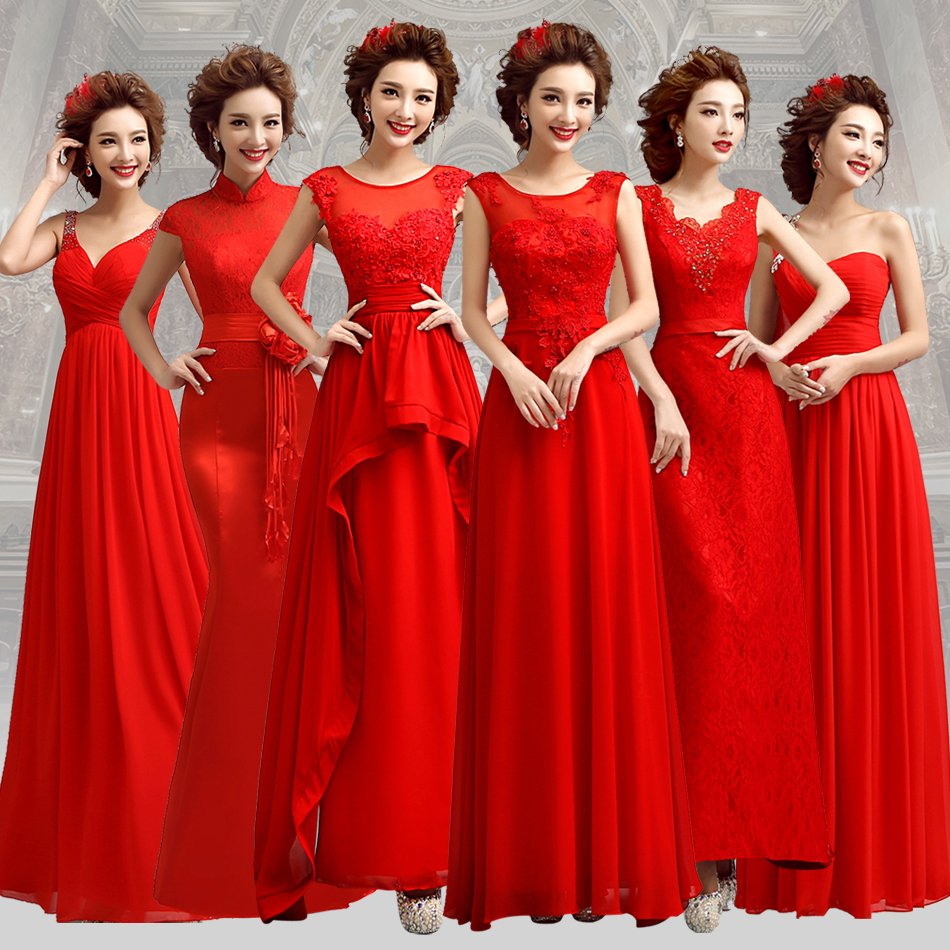 S 2016 New Stock Plus Size Women Pregnant Bridal Gown Wedding Dress Red Long Red Simple Wedding