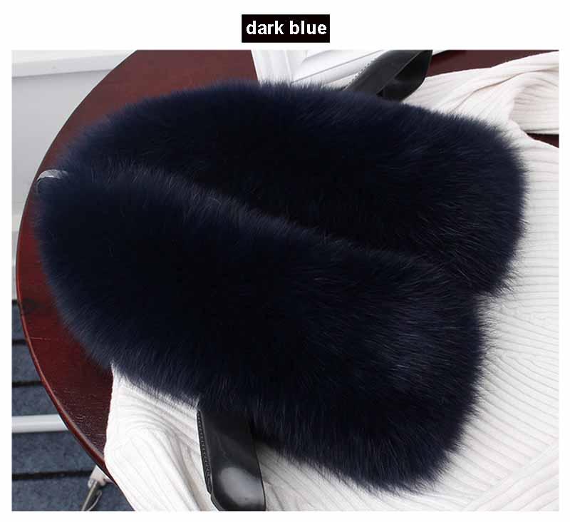 fox fur collar dark blue 1