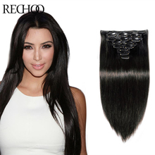 Clip In Human Hair Extensions Double Drawn Fashionable 100G Clip In Virgin Hair Extensions Peruvian Remy Human Hair Clip Hair(China (Mainland))