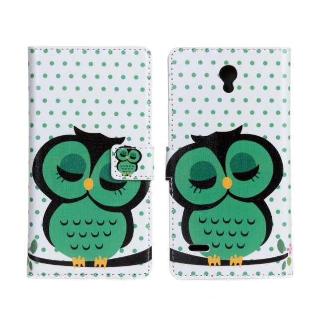For Huawei G700 Cases Wallet Cover Coque Fundas Mobile Bag Cute Owl Leather Phone Accessory For Huawei Ascend G700 Cases Cover(China (Mainland))