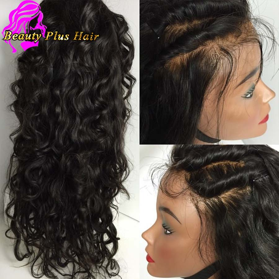 8A Top Quality Brazilian Virgin Lace Front Wig Best Glueless Lace Wigs Human Hair Wet and Wavy Full Lace Wigs For Black Women<br><br>Aliexpress