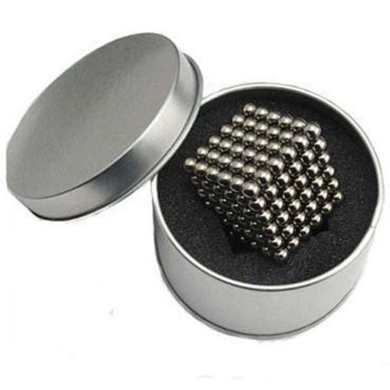 High quality 5mm 216 pcs Neo Cube Magic Cube Puzzle Magnetic Balls with metal box cubos magicos puzzles(China (Mainland))