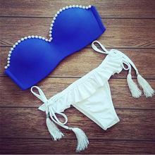 2015 Latest POLOVI Push Up Women Swimsuits Bathing Suit Sexy Brazilian Bikini Bottoms Swimwear High Quality 15298