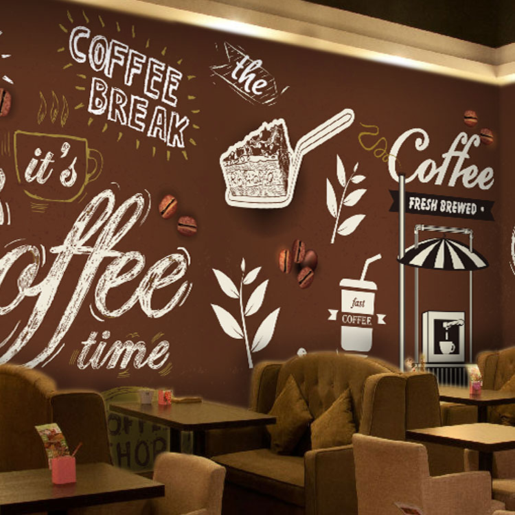 Popular ice cream wallpaper buy cheap ice cream wallpaper for Mural coffee shop