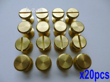 20pcs 10x6mm Leather Craft Belt Wallet Solid Brass Nail Rivets Chicago Screws(China (Mainland))