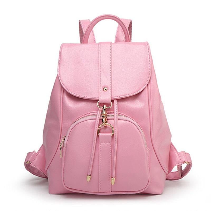 Designer 2016 Women Pu Leather Drawstring Backpack mochila escolar School Bag Travel Rucksack Shoulder Pack Bags Bolsas XA984C - Blue Birds Store store