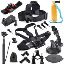 Gopro Accessories  Floating Bobber  stick Monopod Hand Head Chest Strap Adapter Go pro Hero 4 3+ 2 1  10 piece set GS7