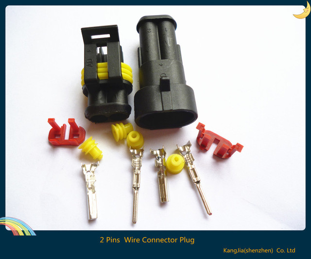 NEW Wire Connector Plug 5 sets 2 Pins Waterproof Electrical Car boats truck bikes Motorcycle