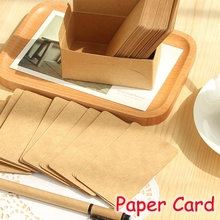 [FORREST SHOP] Kraft Paper Blank Greeting Cards Small Gift Vintage Post Notes Office Supplies (500 Pcs/Lot) UP-8481 - Forrest Shop store