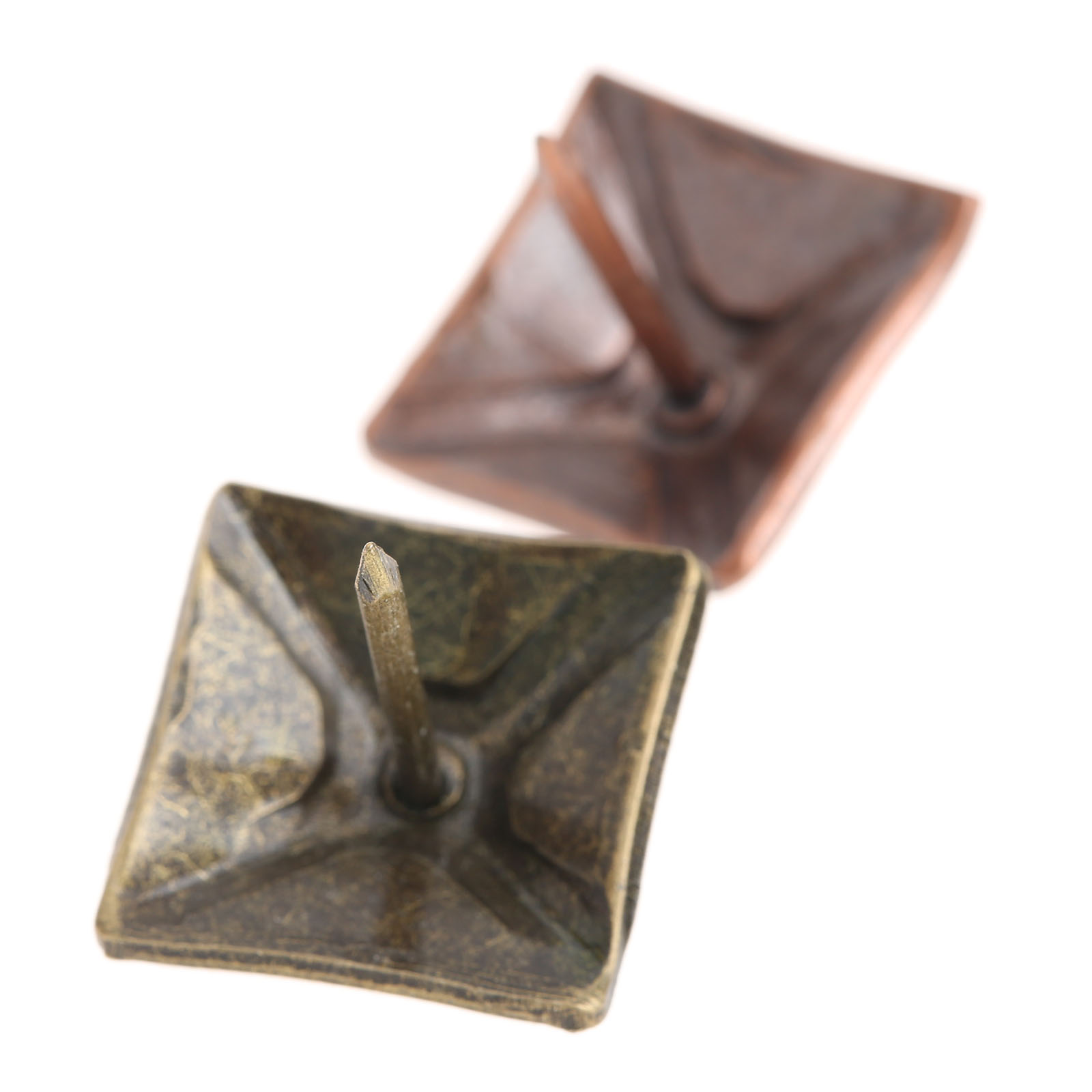 DRELD 50Pcs 19x21mm tachas Decorative Upholstery Tack Square Upholstery Nail Studs Furniture Home Decoration Hardware Fastener