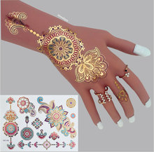 #C23 High Quality Mandala Flash Tattoos, The Best Selling Designs Metallic Body Tattoos.(China (Mainland))