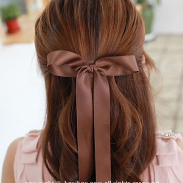 2013 Korean Style Fashion High Quality Satin Ribbon Bow Hair Clip Hair Accessories Barrettes For