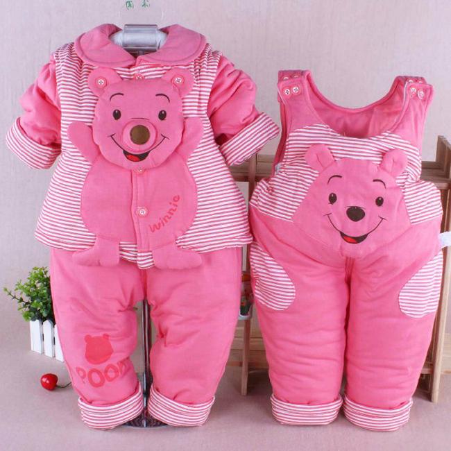 Hot Selling 3pcs Set Turn-Down velvet Winter Baby Clothing Set, Kids Winter Clothes, Girl Winter Clothing Free shipping(China (Mainland))