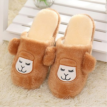 Hot Sale Autumn Winter Lovely Carton Men Warm Home Shoes Soft Plush Inner Non-slip Men's Male Home Floor Slippers Pantufas