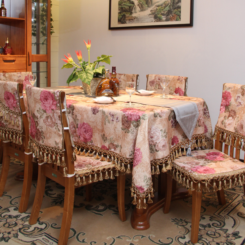 Lace Table Cloth Dining Fabric Fashion Quality Chair