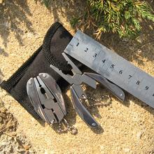 Alta calidad portátil multifuncional plegable herramientas del bolsillo cuchillo de los alicates llavero destornillador