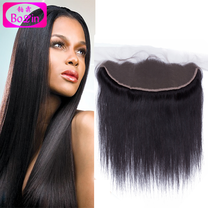 Free Shipping 7A Virgin Straight Malaysian Lace Frontal Closure 13x4 Unprocessed Hair Ear to Ear Lace Closure Bleached Knots<br><br>Aliexpress