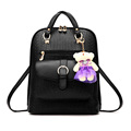 Black Leather Backpack Mochilas Escolares Adolescentes Femininas Sac a Dos Femme Rucksacks For Girls Mini Bagpack