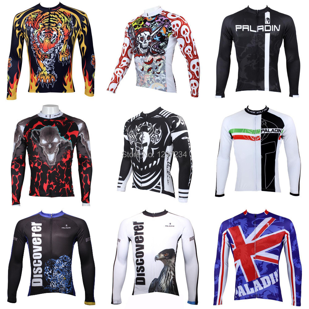2014 paladin men's long sleeve eagle cycling jersey tiger cycle tops cool men's skull bike gear Knight Sauron bike gear/jersey(China (Mainland))