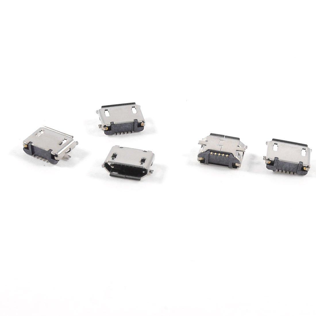 SZS Hot 5pcs USB Micro Type-B 5pin Female Jack Connector SMT Surface Mount(China (Mainland))