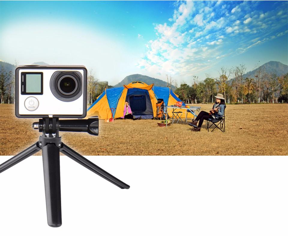 GoPro accessories selfie stick Grip +mini Tripod + 3-way Monopod Portable holder for Go Pro Hero 4 /3+ SJ4000 SJ5000 Xiaomi yi